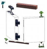 Раздвижная система гармошка 80 кг, профиль, механизм, схема монтажа, купить