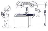 Раздвижная система EKF на 40 кг, профиль, механизм, схема монтажа, купить оптом